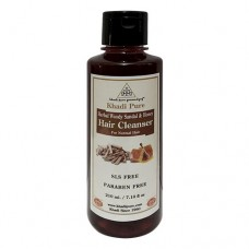 Khadi Pure Herbal Woody Sandal & Honey Hair Cleanser SLS-Paraben Free - 210ml