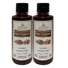 Khadi Pure Herbal Woody Sandal & Honey Hair Cleanser SLS-Paraben Free - 210ml (Set of 2)