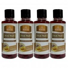 Khadi Pure Herbal Sandal & Honey Body Wash - 210ml (Set of 4)