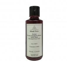 Khadi Pure Herbal Woody Sandal & Honey Body Wash SLS-Paraben Free - 210ml