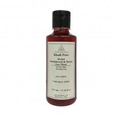Khadi Pure Herbal Sandalwood & Honey Face Wash SLS-Paraben Free - 210ml