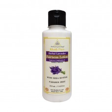 Khadi Pure Herbal Lavender Fairness Lotion with Sheabutter SLS-Paraben Free - 210ml