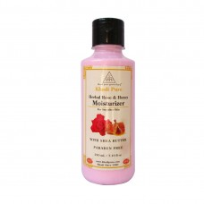 Khadi Pure Herbal Rose & Honey Moisturizer with Sheabutter SLS-Paraben Free - 210ml