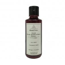 Khadi Pure Herbal Woody Sandal & Honey Shampoo SLS-Paraben Free - 210ml