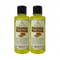 Khadi Pure Herbal Sandal & Turmeric Body Wash - 210ml (Set of 2)