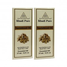 Khadi Pure Herbal Sandalwood Essential Oil - 15ml (Set of 2)