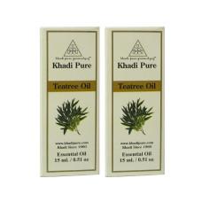 Khadi Pure Herbal Teatree Essential Oil - 15ml (Set of 2)