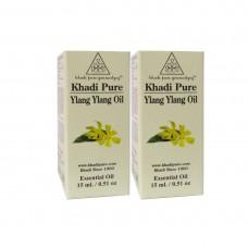 Khadi Pure Herbal Ylang Ylang Essential Oil - 15ml (Set of 2)
