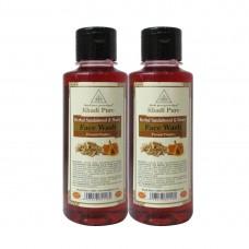 Khadi Pure Herbal Sandalwood & Honey Face Wash - 210ml (Set of 2)
