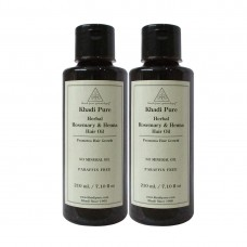 Khadi Pure Herbal Rosemary & Henna Hair Oil - 210ml (Set of 2)