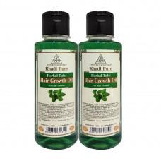 Khadi Pure Herbal Tulsi Hair Growth Oil - 210ml (Set of 2)