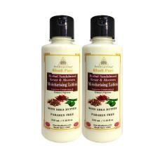Khadi Pure Herbal Sandalwood, Kesar & Aloevera Moisturising Lotion SLS-Paraben Free - 210ml (Set of 2)