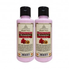 Khadi Pure Herbal Rose & Honey Moisturizer - 210ml (Set of 2)