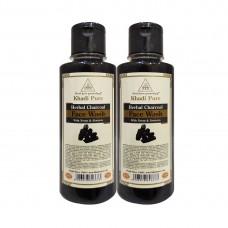 Khadi Pure Herbal Charcoal Face Wash - 210ml (Set of 2)