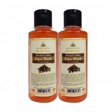 Khadi Pure Herbal Coffee Face Wash - 210ml (Set of 2)