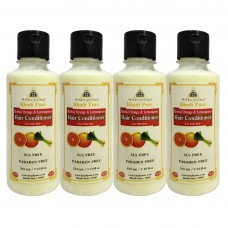 Khadi Pure Herbal Orange & Lemongrass Hair Conditioner SLS-Paraben Free - 210ml (Set of 4)