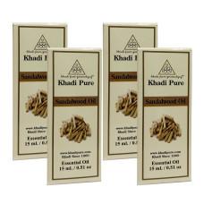 Khadi Pure Herbal Sandalwood Essential Oil - 15ml (Set of 4)