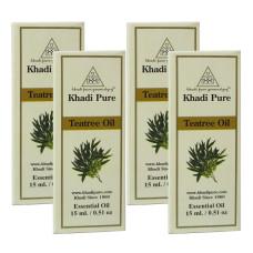 Khadi Pure Herbal Teatree Essential Oil - 15ml (Set of 4)