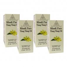 Khadi Pure Herbal Ylang Ylang Essential Oil - 15ml (Set of 4)