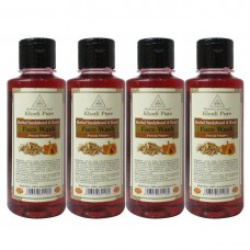 Khadi Pure Herbal Sandalwood & Honey Face Wash - 210ml (Set of 4)