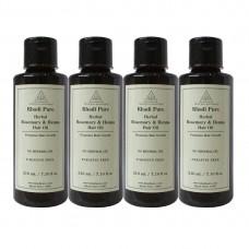 Khadi Pure Herbal Rosemary & Henna Hair Oil - 210ml (Set of 4)