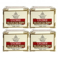 Khadi Pure Herbal Lychee Lip Balm - 10g (Set of 4)