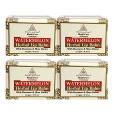 Khadi Pure Herbal Watermelon Lip Balm - 10g (Set of 4)