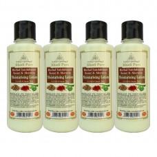 Khadi Pure Herbal Sandalwood, Kesar & Aloevera Moisturising Lotion - 210ml (Set of 4)