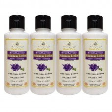 Khadi Pure Herbal Lavender Fairness Lotion with Sheabutter SLS-Paraben Free - 210ml (Set of 4)