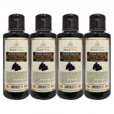 Khadi Pure Herbal Charcoal Face Wash - 210ml (Set of 4)