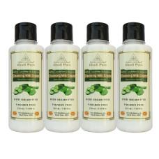 Khadi Pure Herbal Cucumber & Aloevera Cleansing Milk Cream with Sheabutter - 210ml (Set of 4)