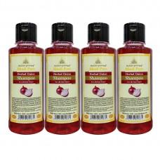 Khadi Pure Herbal Onion Shampoo - 210ml (Set of 4)