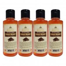 Khadi Pure Herbal Coffee Face Wash - 210ml (Set of 4)